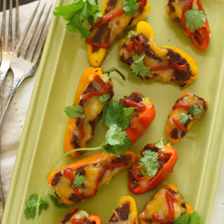 Black Bean Stuffed Mini Pepper Bites