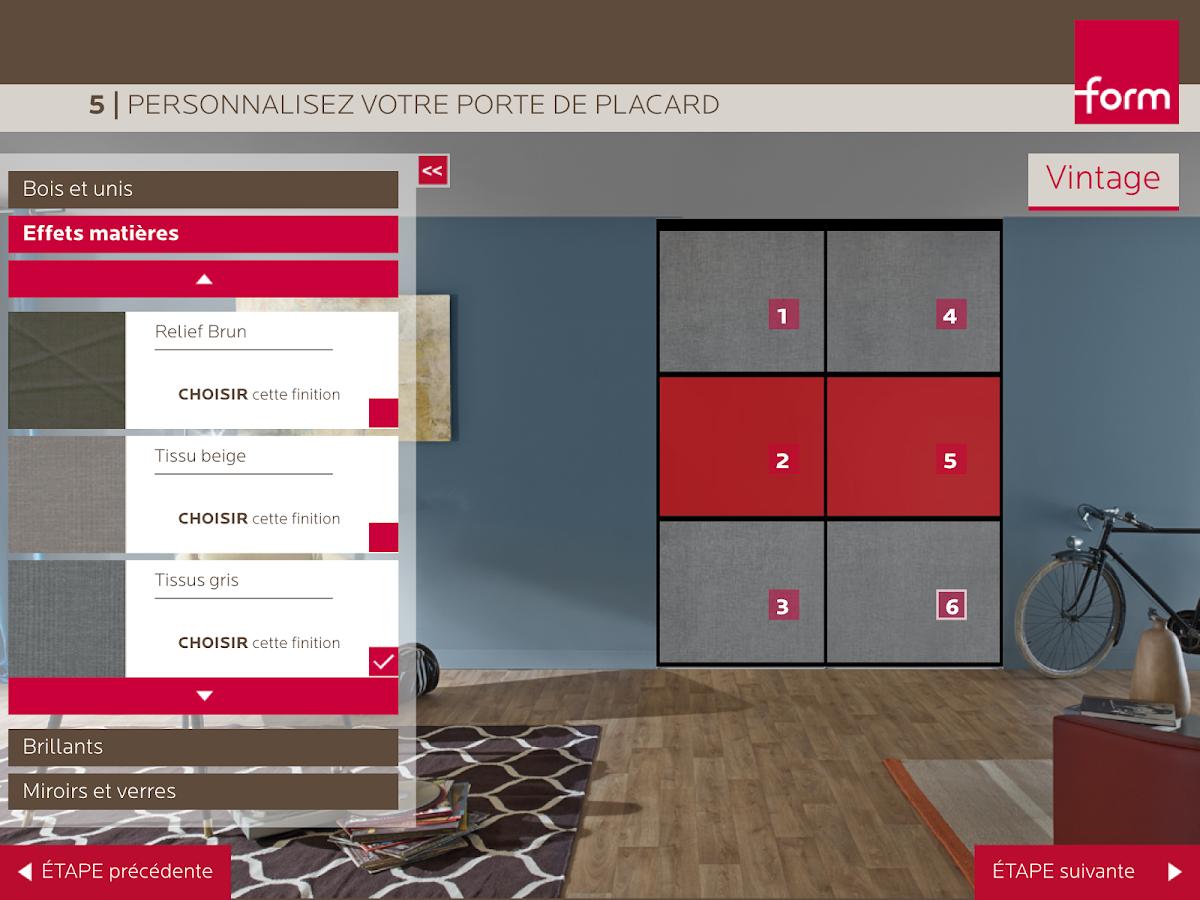 form portes de placard android apps on google play. Black Bedroom Furniture Sets. Home Design Ideas