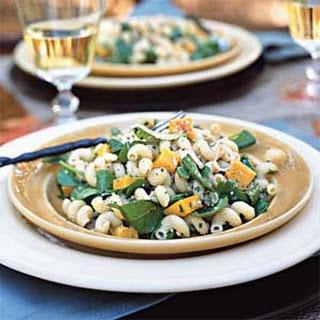 Cavatappi Pasta Salad with Walnut-Sage Pesto.