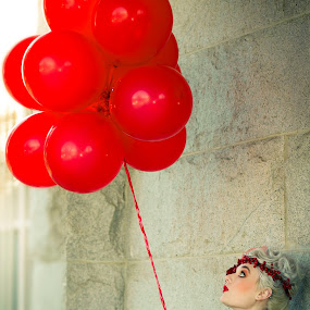 red balloons  by Shirley Cohen - People Street & Candids ( red, art, shirleycohenphotography, balloons, photography )