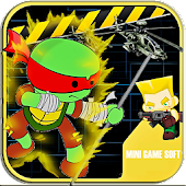 Turtles Fighting Ninja Games