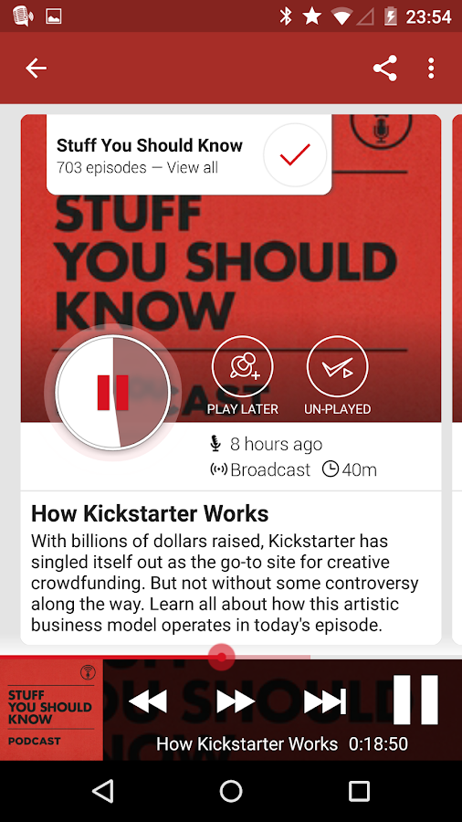 Player FM Podcast App- screenshot
