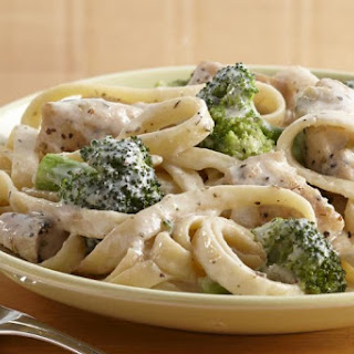 Chicken and Broccoli Fettuccini Dinner.