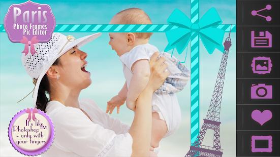 Paris Photo Frames Pic Editor screenshot
