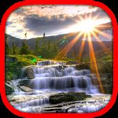 Sun Waterfall Live Wallpaper