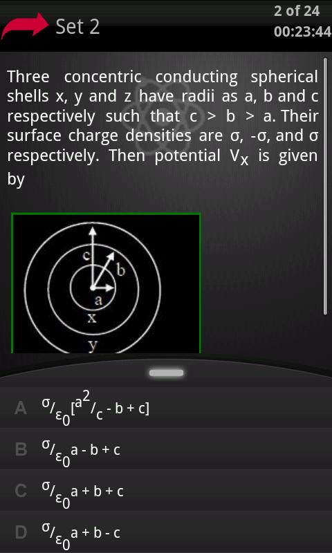 Physics Class 12 Mock Test 1 - screenshot