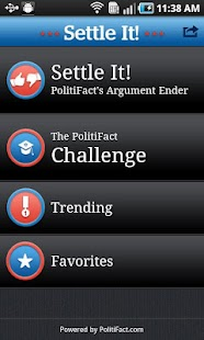 PolitiFact's Settle It!- screenshot thumbnail
