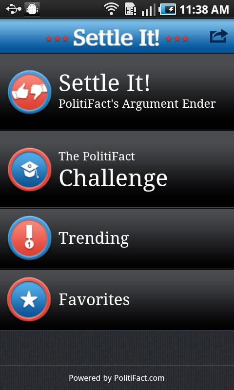 PolitiFact's Settle It! - screenshot