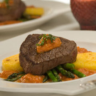 Beef Tenderloin With Creamy Burgundy Marinara.