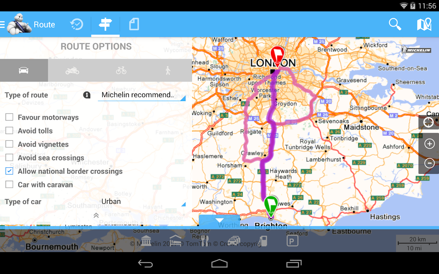 how to change route on mobile google maps
