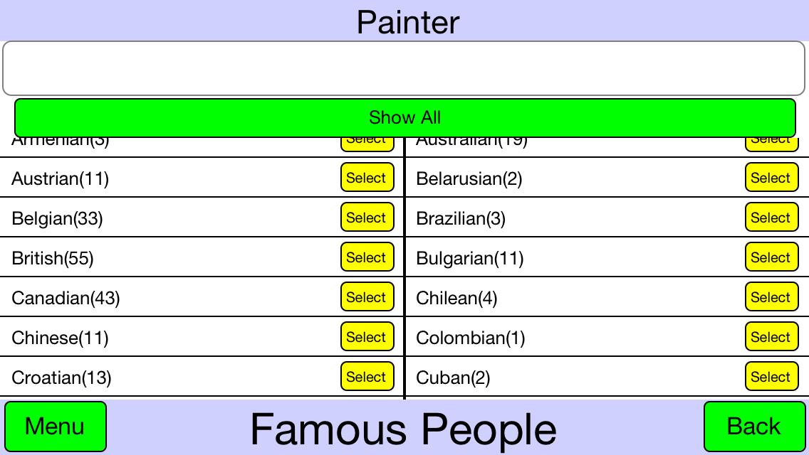 Famous People - screenshot