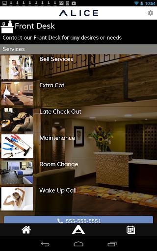 ALICE - Hotel App Concierge