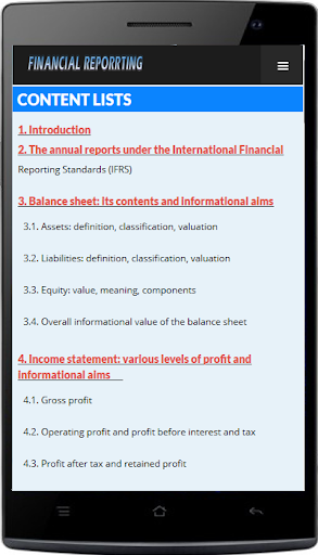 Financial Reporting - Basic