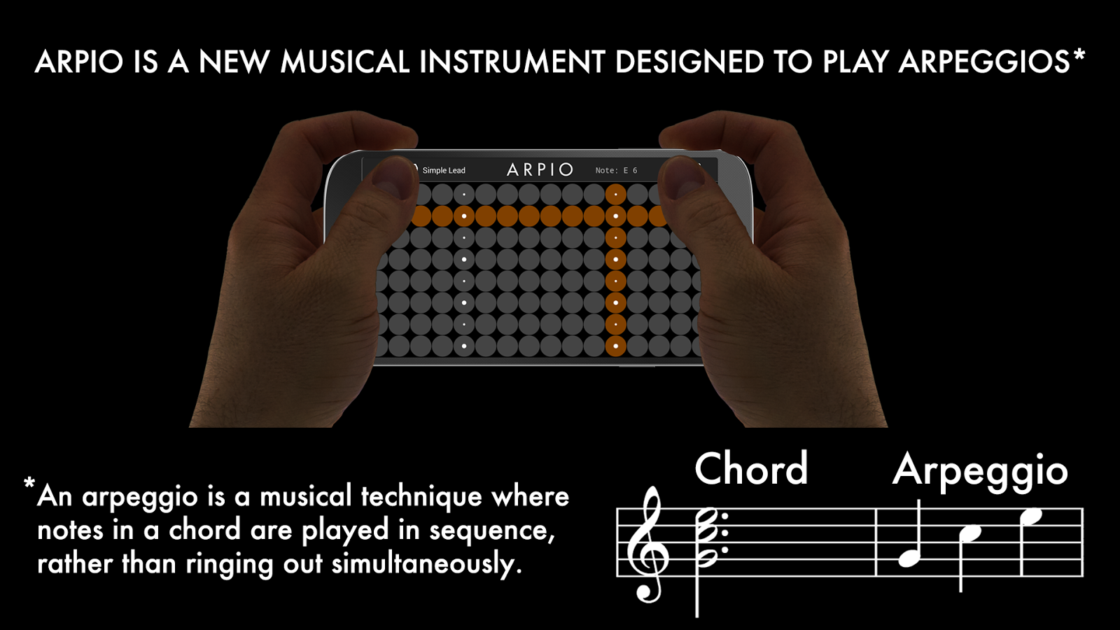 ARPIO a new musical instrument- screenshot