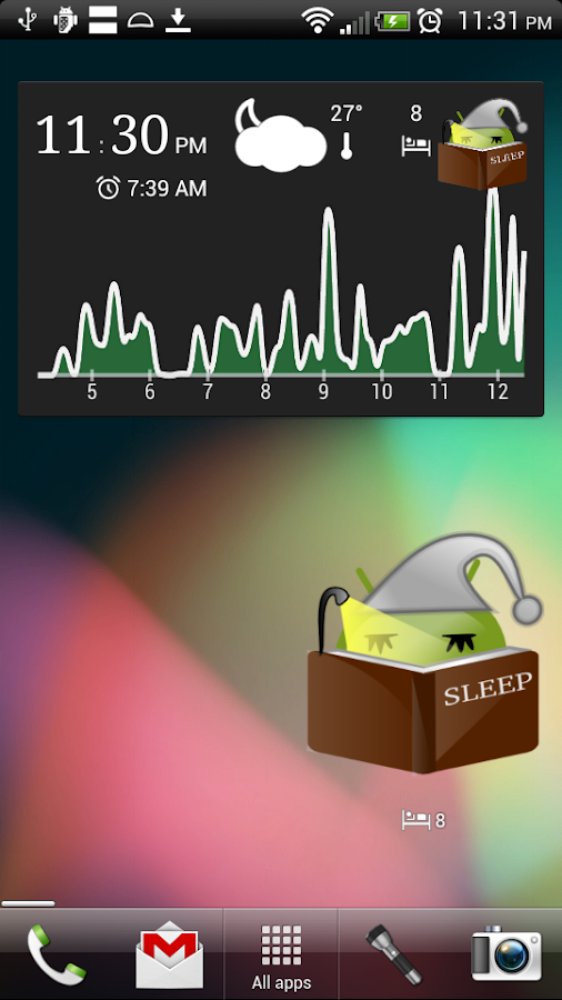 SleepWidget - screenshot