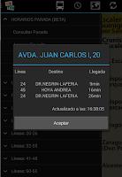 Screenshot of Schedule Guaguas(Buses) LPGC
