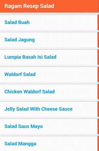 【免費健康App】Ragam Resep Salad-APP點子
