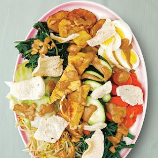 Gado-Gado (Indonesian Vegetable Salad with Peanut Dressing).