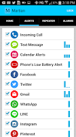 Screenshot of Martian Watch Alerts