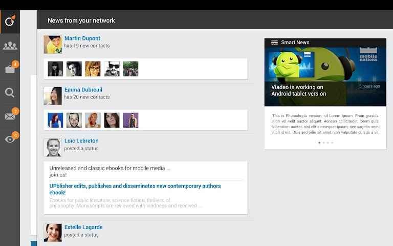 android Viadeo Screenshot 3