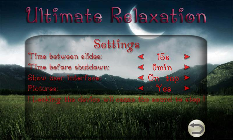 The Ultimate Relaxation guide - screenshot