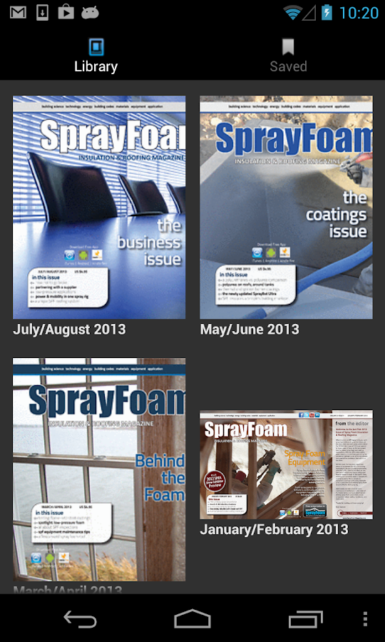 SprayFoamMag- screenshot
