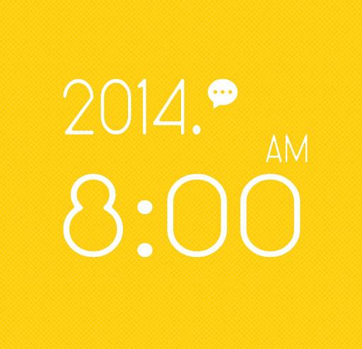 免費工具App|시계 위젯 - 심플한 시계/노란색 시계/예쁜 시계|阿達玩APP