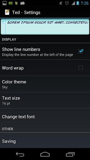 【免費生產應用App】Ted (Text Editor)-APP點子