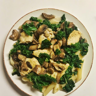 Chicken & Mushroom Penne With Kale.