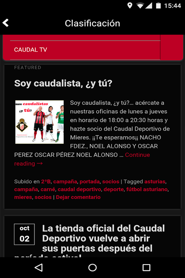 Caudal Deportivo- screenshot