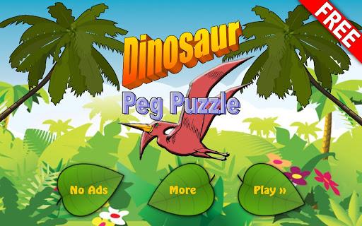 Dinosaur Peg Puzzle Free