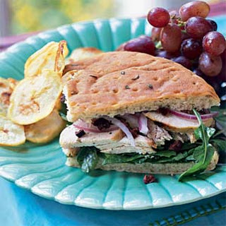 Chicken-Arugula Focaccia Sandwiches.