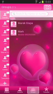 GO Contacts Hearts Theme - screenshot thumbnail