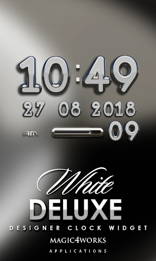 White Deluxe Digital Clock