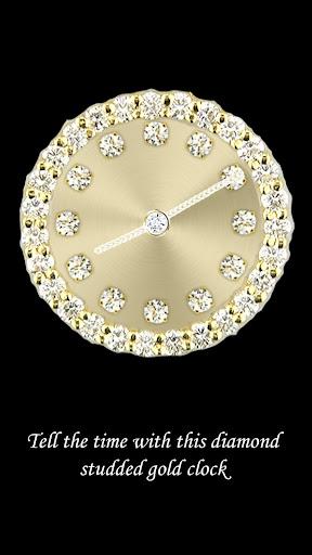 Diamond Gold Clock Widget
