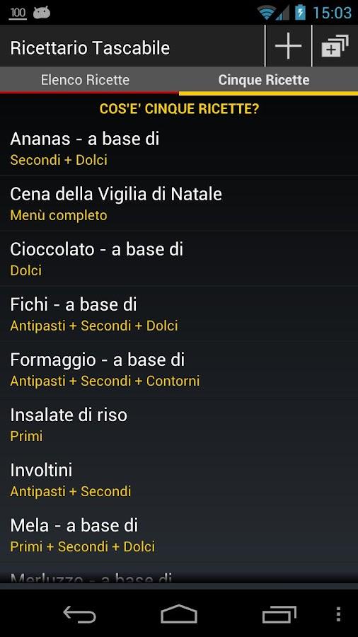 Ricettario Tascabile | Ricette- screenshot