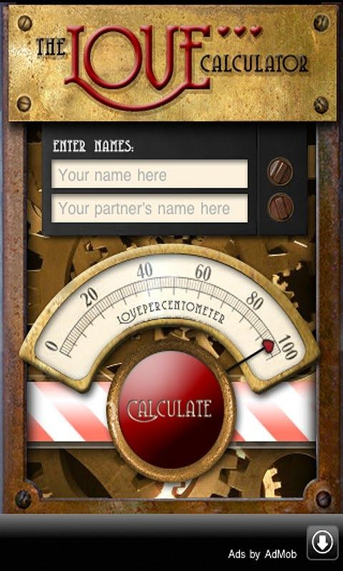 Screenshots of Love Calculator for iPhone