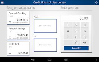 Screenshot of Credit Union of New Jersey