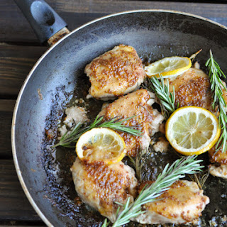 Lemon Rosemary Chicken Thighs.
