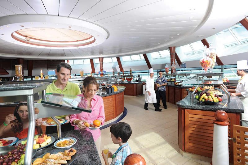 There's something for everybody at the Windjammer cafe's buffet, on deck 9 of Grandeur of the Seas.
