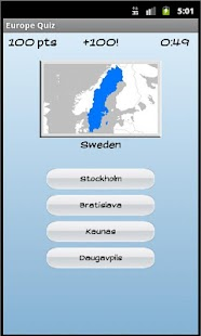 Europe Quiz Screenshot 3