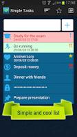 Screenshot of Simple Tasks
