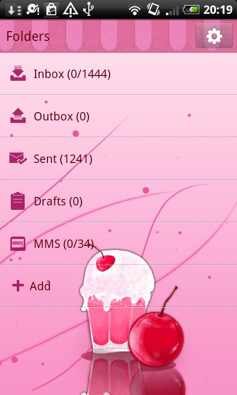 GO SMS Pro Milk Shake Theme - screenshot