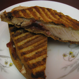 Dark Meat Turkey Panini with Montasio Cheese-Leftover Heaven.