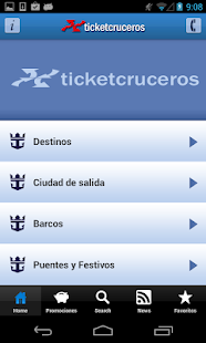 Ticketroyal - Cruceros: miniatura de captura de pantalla