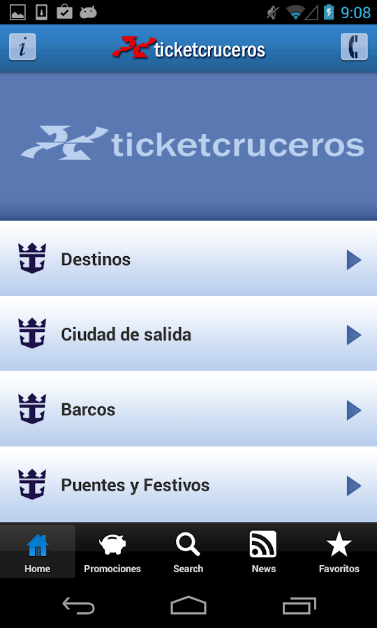 Ticketroyal - Cruceros: captura de pantalla