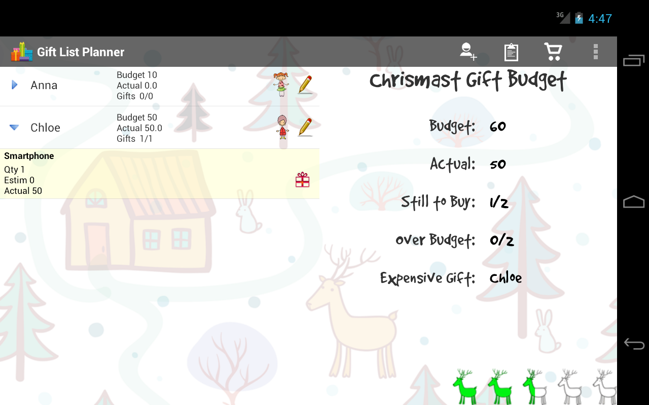 Christmas Gift List - screenshot