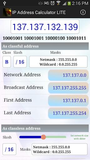 IPv4 Address Calculator Lite
