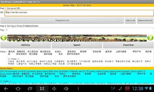 TinyWebDB API Tester HD