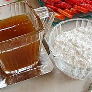 Maple- Ginger Syrup.